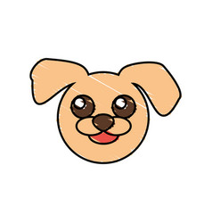 Cute dog drawing animal vector