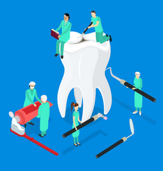 dental care concept 3d isometric view vector image vector image