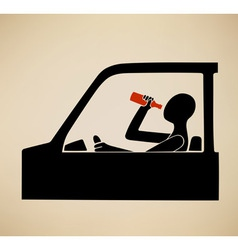 Drunk driving vector