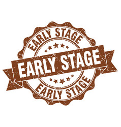 Early stage stamp sign seal vector