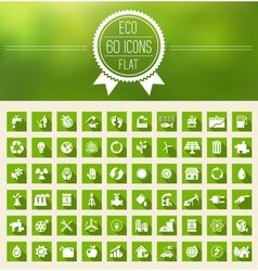 Ecology Flat Icon Set vector image