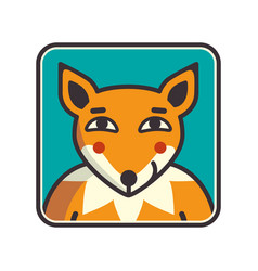 fox head of fox vector image