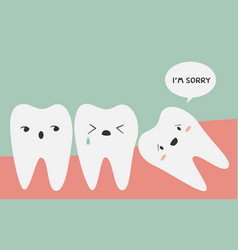impacted tooth vector image vector image