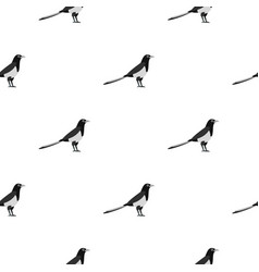 Magpie pattern seamless vector