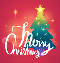 merry christmas calligraphy with background vector image vector image