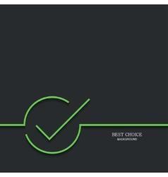 modern green check mark vector image vector image