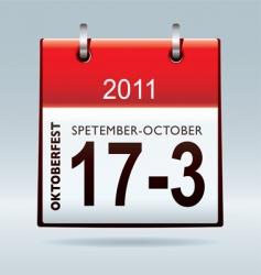 Oktoberfest calendar icon vector image