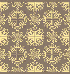 oriental seamless pattern - korean japanese or vector image vector image