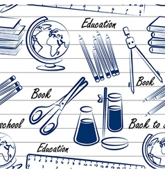 School items seamless2 vector image vector image