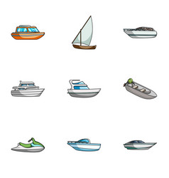 Sea transport boats ships to transport people vector