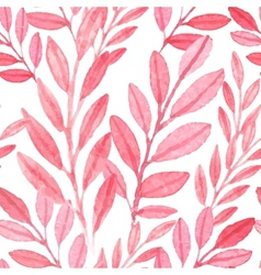 Seamless Pink pattern of leaves vector image vector image