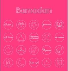 Set of ramadan simple icons vector image vector image