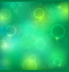 shining green background with light effects vector image