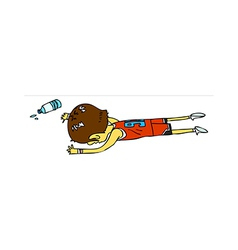 Side view of boy lying down vector image