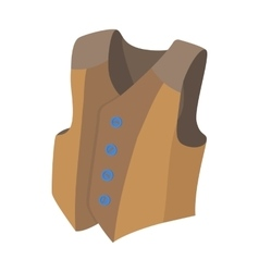 Waistcoat icon cartoon style vector