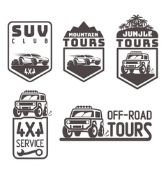 suv 4x4 off-road travel tour club Icon logo vector image