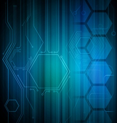 Digital honeycomb background vector
