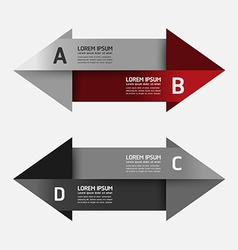 Modern design template arrow banners vector