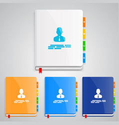 notebook set color vector image