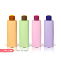 Small bottle of shampoo vector