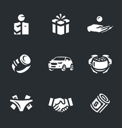 set of corruption icons vector image