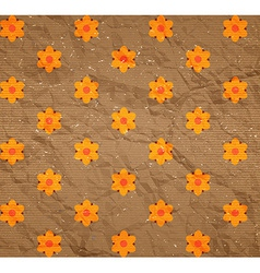 Floral pattern on the cardboard vector