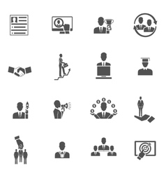 Career icons set vector