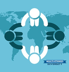 Multiethnic diversity vector