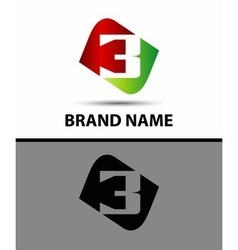 Number three logo logo 3 template vector