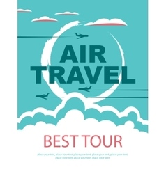 Banner for air travel vector