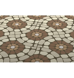 Mosaic floor vector