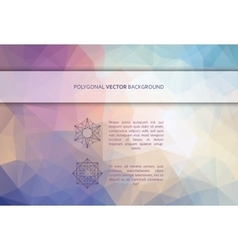 rectangle polygonal background vector image