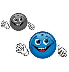 Bowling ball cartoon vector