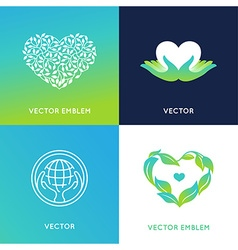 Set of logo design templates and badges vector