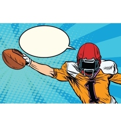 American football athlete ball goal vector