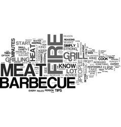 Barbecue tips for better taste text word cloud vector