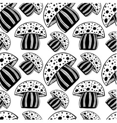 beautiful seamless pattern with monochrome vector image vector image