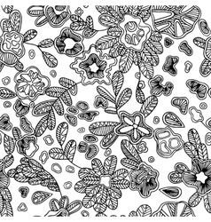 Black and white seamless abstract pattern with vector image vector image