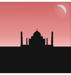 black silhouette of an Indian temple vector image