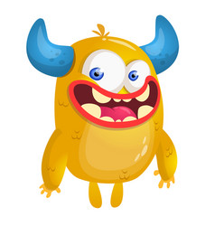 cartoon yellow monste vector image