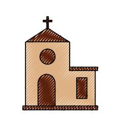 Church building cartoon christmas celebration vector