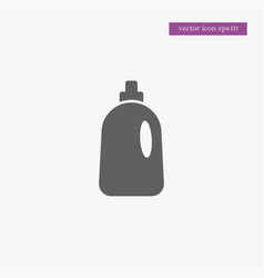 cleaning bottle icon simple vector image