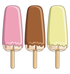colored ice cream ice lolly vector image vector image