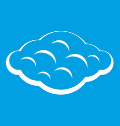 Curly cloud icon white vector