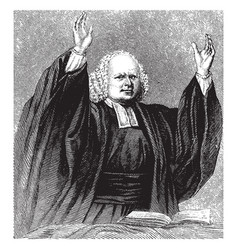 George whitefield vintage vector