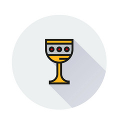 Grail holy icon on round background vector