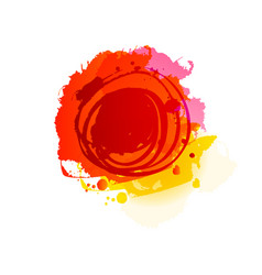 grunge summer red background vector image vector image