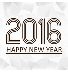 happy new year 2016 on the triiangle papaper vector image vector image