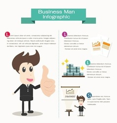 Infographic business man business concept vector