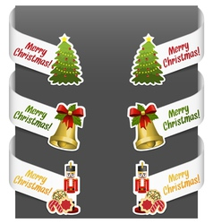 left and right side signs - merry christmas vector image